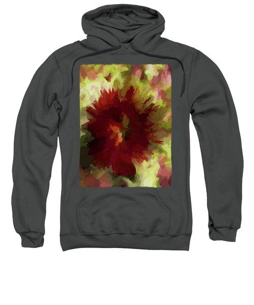 Maroon Flower 4 Sweatshirt by Jackie VanO