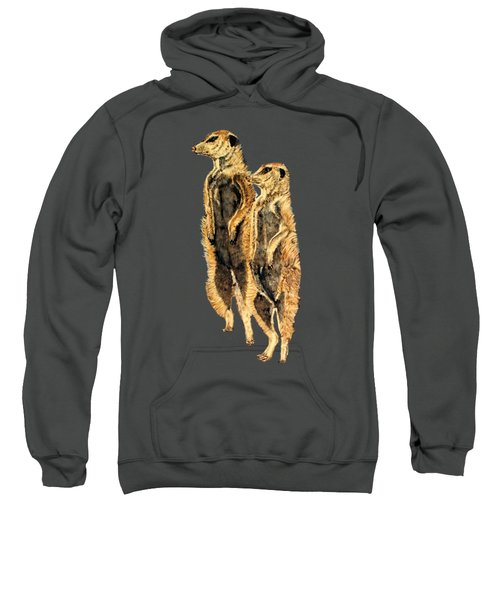 Meerkats Sweatshirt by Teresa  Peterson