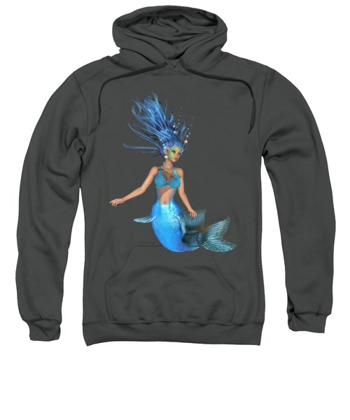 Mermaid Ruby Blue Sweatshirt by Diane Leenknegt