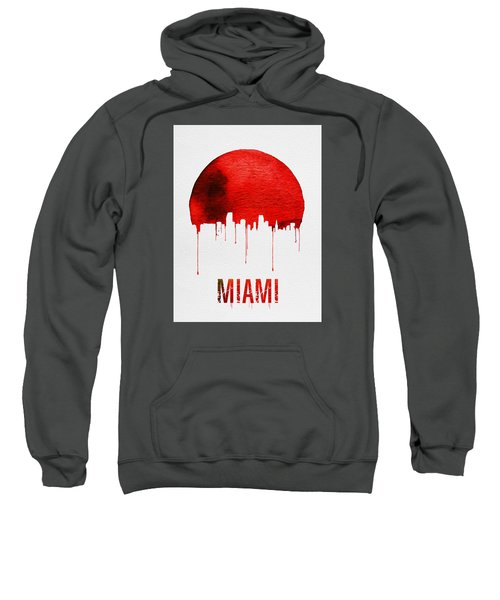 Miami Skyline Red Sweatshirt by Naxart Studio