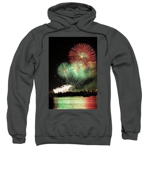 Montreal-fireworks Sweatshirt by Mircea Costina Photography