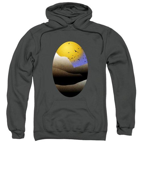 Mountain Sunset Landscape Art Sweatshirt by Christina Rollo