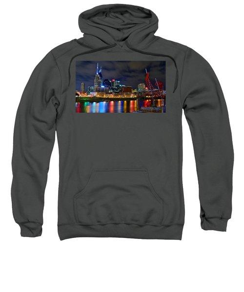 Nashville After Dark Sweatshirt by Frozen in Time Fine Art Photography