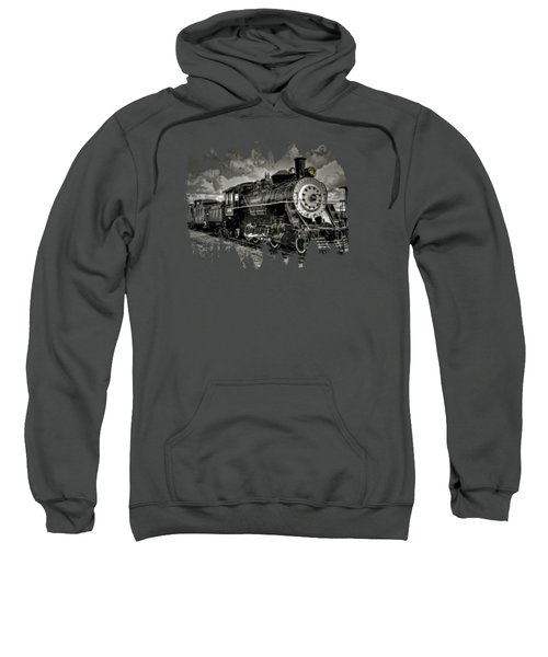 Old 104 Steam Engine Locomotive Sweatshirt by Thom Zehrfeld