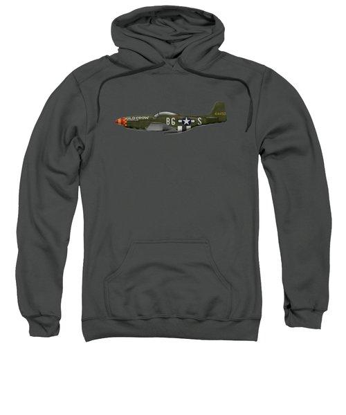 Old Crow - P-51 D Mustang Sweatshirt by Ed Jackson