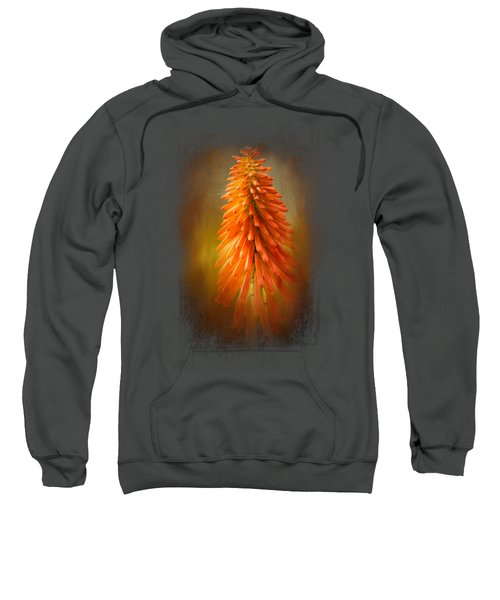 Orange Blast In The Garden Sweatshirt by Jai Johnson