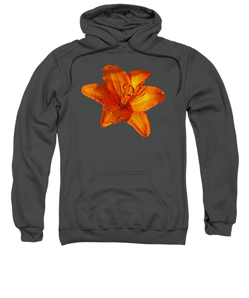 Orange Lily In Sunshine After The Rain Sweatshirt by Gill Billington