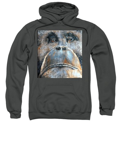 Orangutan Sweatshirt by Maureen Murphy