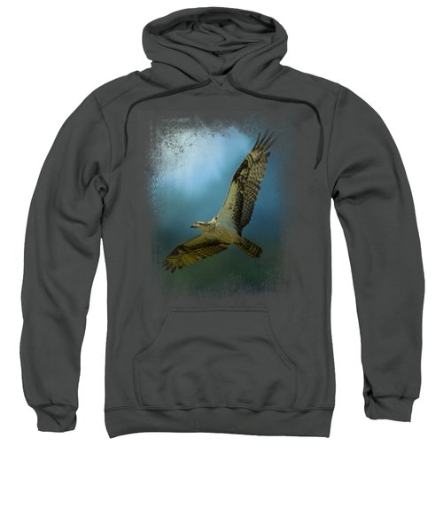 Osprey In The Evening Light Sweatshirt by Jai Johnson