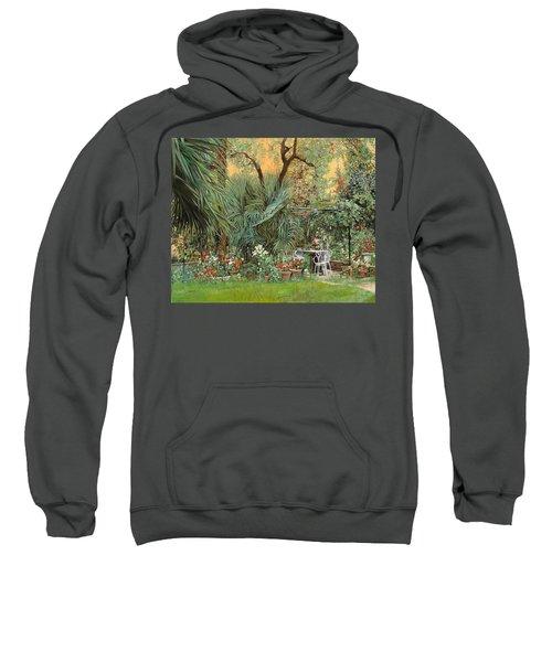 Our Little Garden Sweatshirt by Guido Borelli