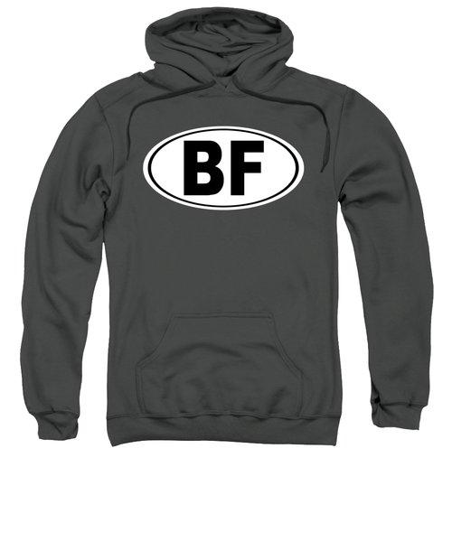 Oval Bf Beaver Falls Pennsylvania Home Pride Sweatshirt by Keith Webber Jr