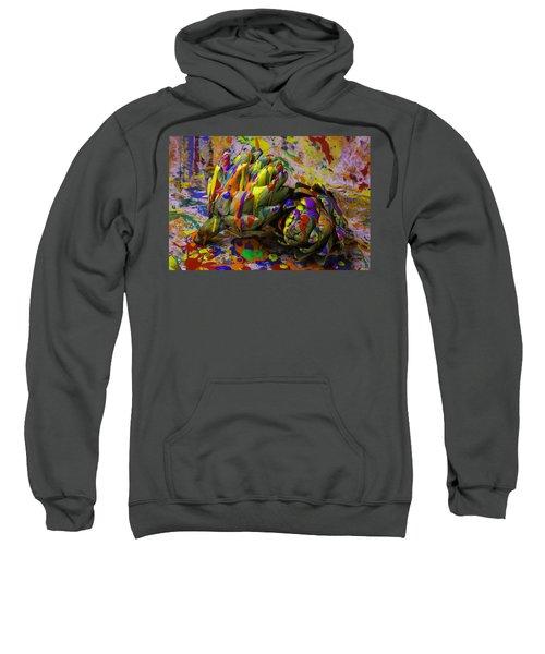 Painted Artichokes Sweatshirt by Garry Gay