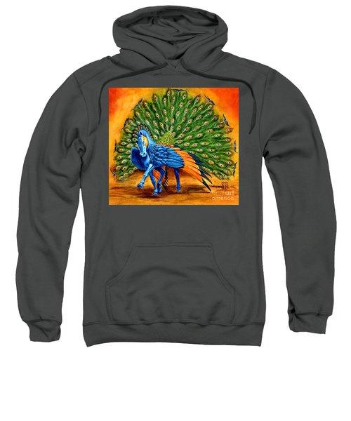 Peacock Pegasus Sweatshirt by Melissa A Benson