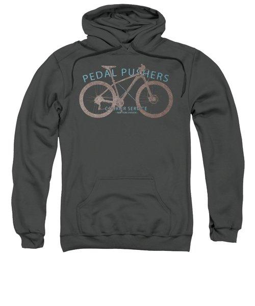 Pedal Pushers Courier Service Bike Tee Sweatshirt by Edward Fielding