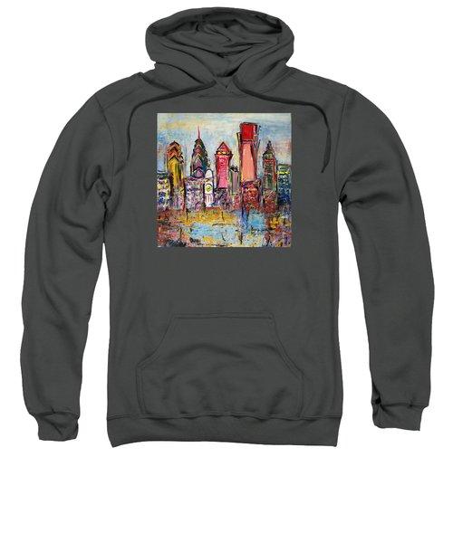 Philadelphia Skyline 232 1 Sweatshirt by Mawra Tahreem