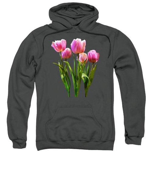 Pink Pastel Tulips Sweatshirt by Susan Savad
