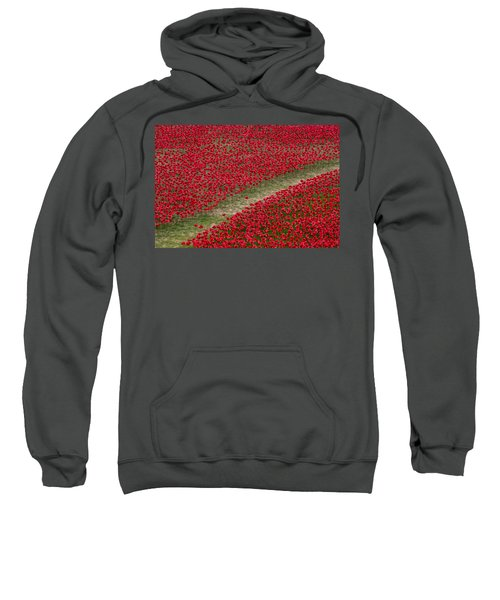 Poppies Of Remembrance Sweatshirt by Martin Newman