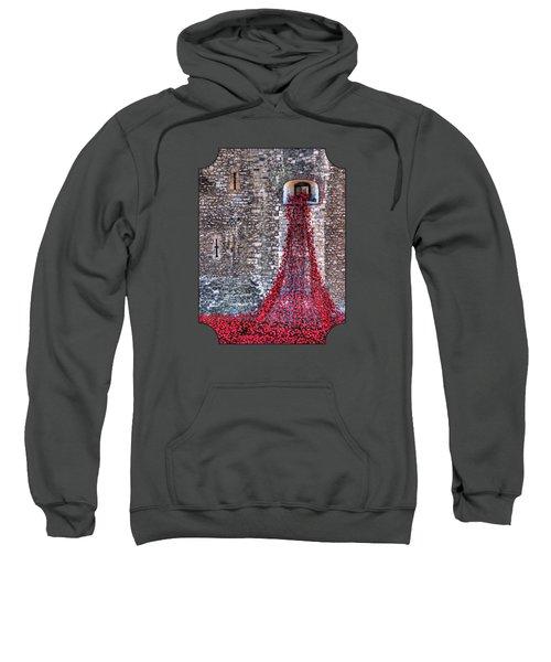 Poppy Cascade Sweatshirt by Gill Billington