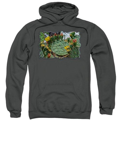 Prickly Pear Flowers Op46 Sweatshirt by Mark Myhaver