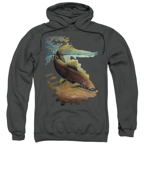 Rainbow Trout Trans Sweatshirt by Kimberly Benedict