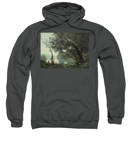 Recollections Of Mortefontaine Sweatshirt by Jean Baptiste Corot