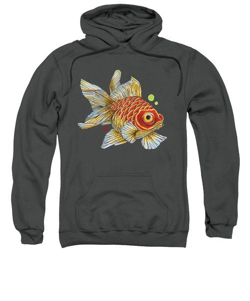 Red Telescope Goldfish Sweatshirt by Shih Chang Yang