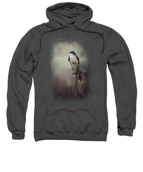 Resting Tree Swallow Sweatshirt by Jai Johnson
