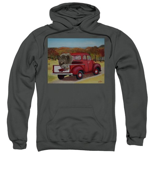 Ridin' With Razorbacks Sweatshirt by Belinda Nagy