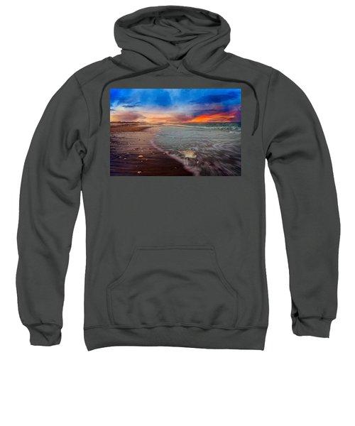 Sandpiper Sunrise Sweatshirt by Betsy Knapp