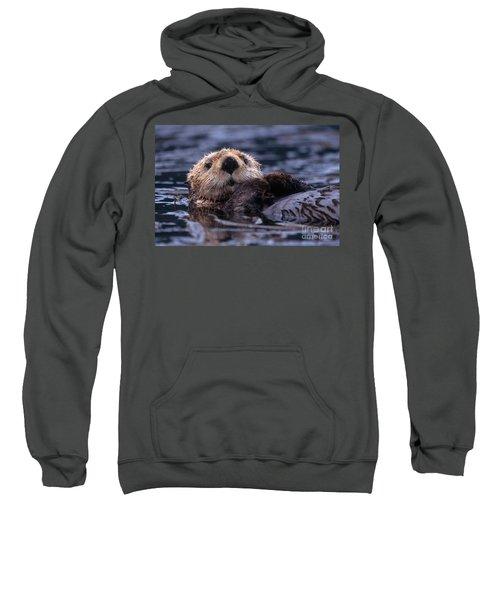Sea Otter Sweatshirt by Yva Momatiuk and John Eastcott and Photo Researchers