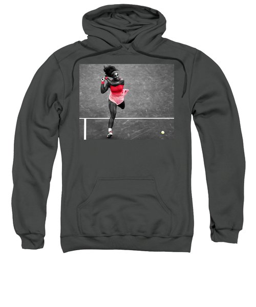 Serena Williams Strong Return Sweatshirt by Brian Reaves