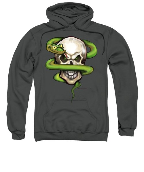 Serpent Evil Skull Sweatshirt by Kevin Middleton