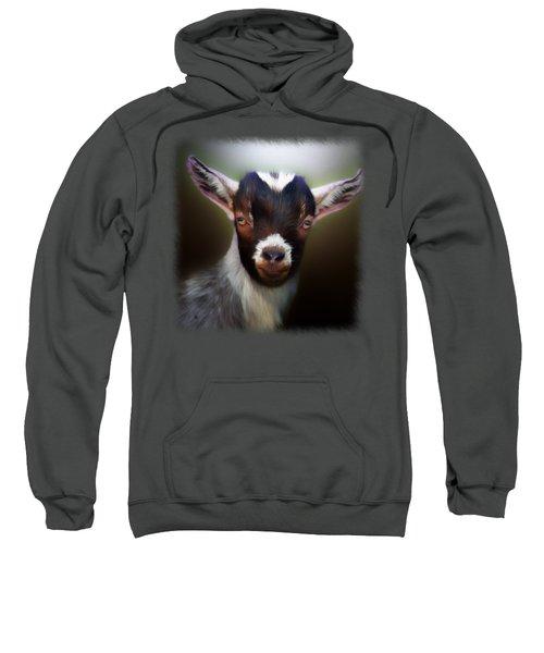 Skippy - Goat Portrait Sweatshirt by Linda Koelbel