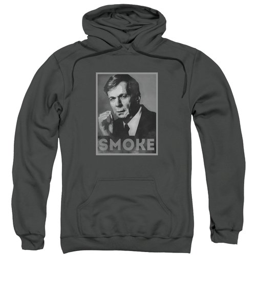 Smoke Funny Obama Hope Parody Smoking Man Sweatshirt by Philipp Rietz