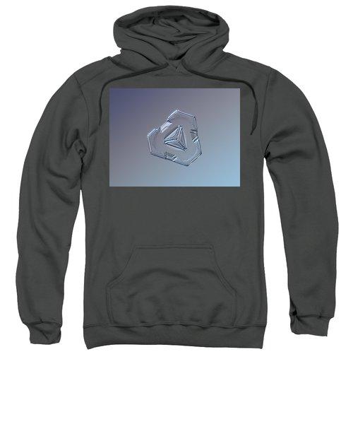 Snowflake Photo - Enigma Sweatshirt by Alexey Kljatov