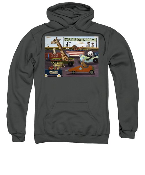 Soap Box Derby Sweatshirt by Leah Saulnier The Painting Maniac