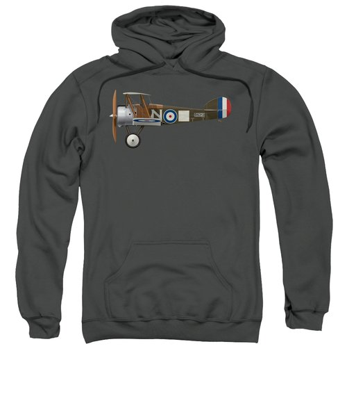 Sopwith Camel - B6313 March 1918 - Side Profile View Sweatshirt by Ed Jackson