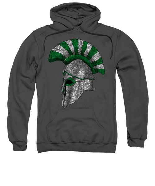Spartan Helmet Sweatshirt by Dusty Conley