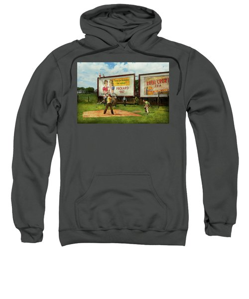 Sport - Baseball - America's Past Time 1943 Sweatshirt by Mike Savad