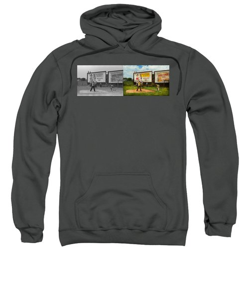 Sport - Baseball - America's Past Time 1943 - Side By Side Sweatshirt by Mike Savad