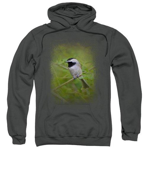 Spring Chickadee Sweatshirt by Jai Johnson