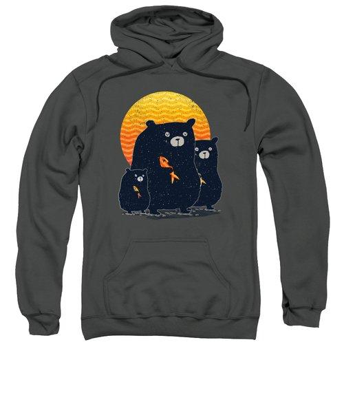 Sunset Bear Family Sweatshirt by Illustratorial Pulse