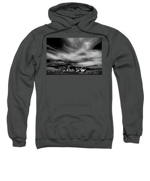 Sydney Skyline With Dramatic Sky Sweatshirt by Avalon Fine Art Photography