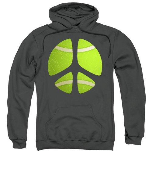 Tennis Ball Peace Sign Sweatshirt by David G Paul