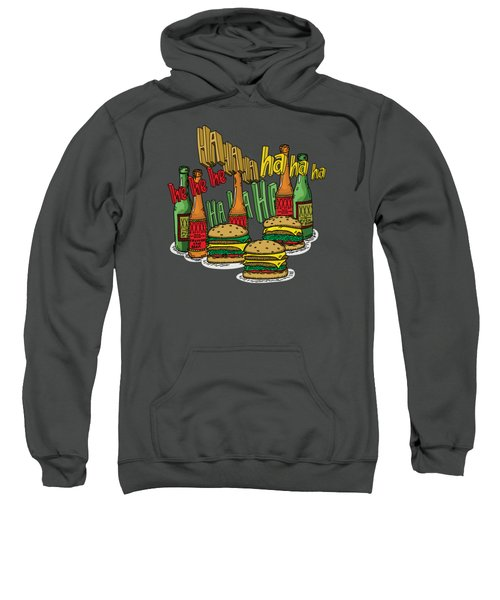 The Big Lebowski  Some Burgers Some Beers And A Few Laughs  In And Out Burger Jeff Lebowski Sweatshirt by Paul Telling