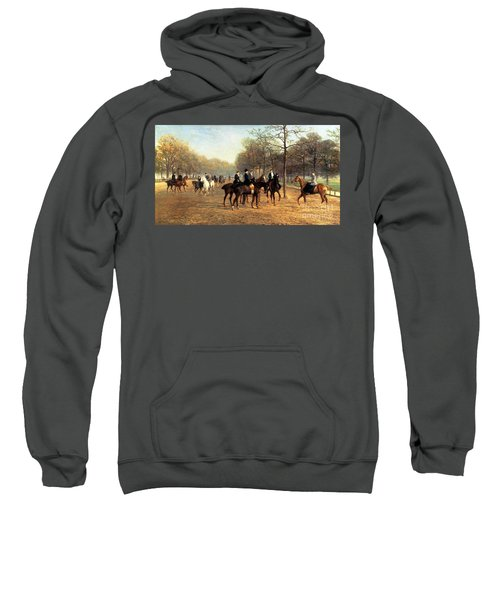 The Morning Ride Rotten Row Hyde Park Sweatshirt by Heywood Hardy