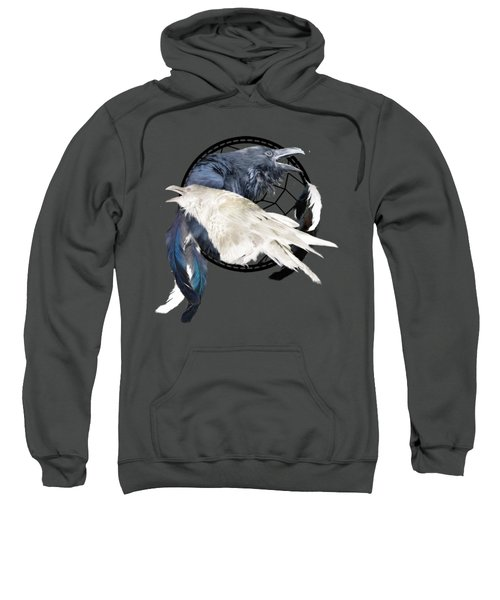 The White Raven Sweatshirt by Carol Cavalaris