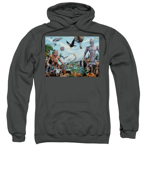 The World Of Ray Harryhausen Sweatshirt by Tony Banos