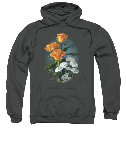 Three Roses Sweatshirt by Lucie Bilodeau
