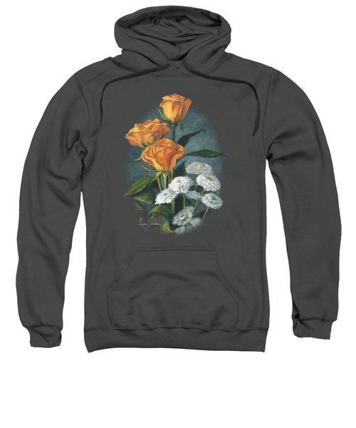 Three Roses Sweatshirt by Lucie Bilodeau